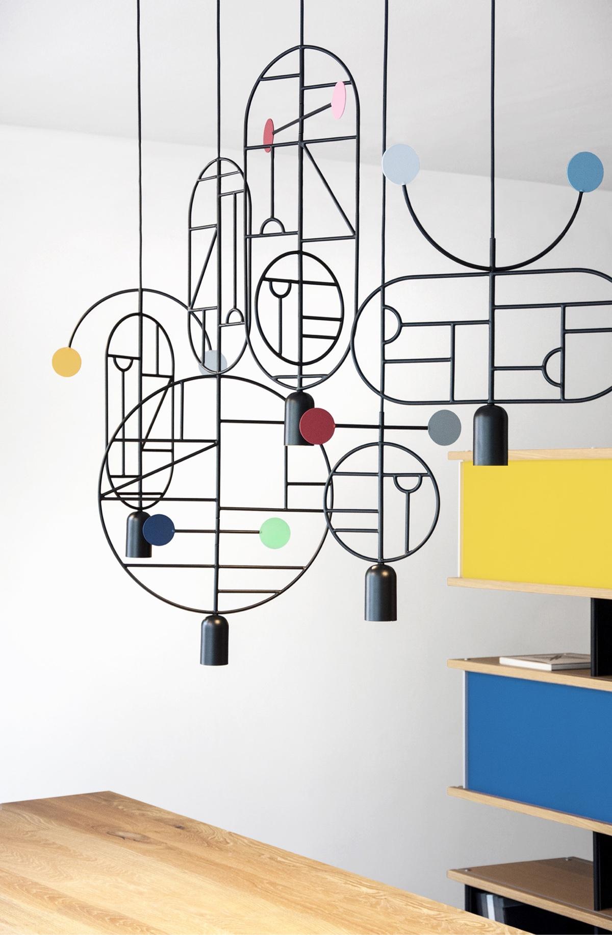 Lámparas Lines & Dots de GOFI